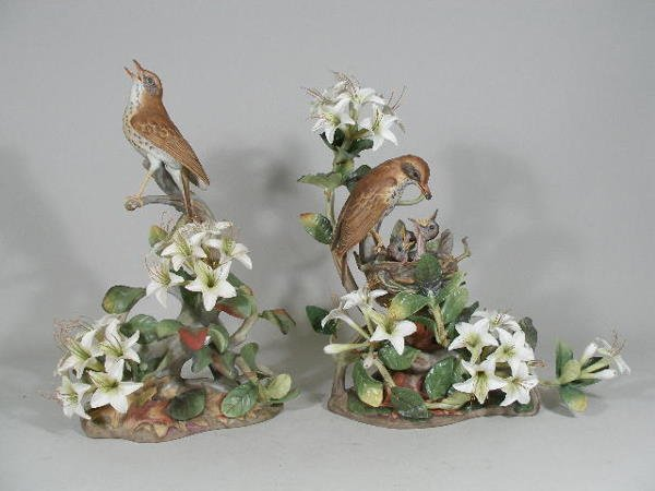 """13: Pair of Boehm """"Wood Thrushes"""", Limited Edition,"""