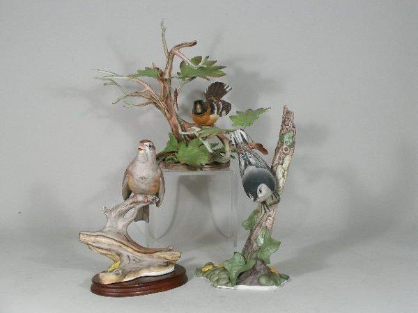 19: Three Boehm Porcelain Birds,