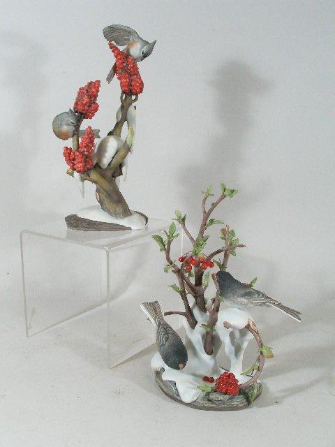 """20: Two Boehm Bird Figurals, """"Junco"""" & """"Tufled Titmice"""""""
