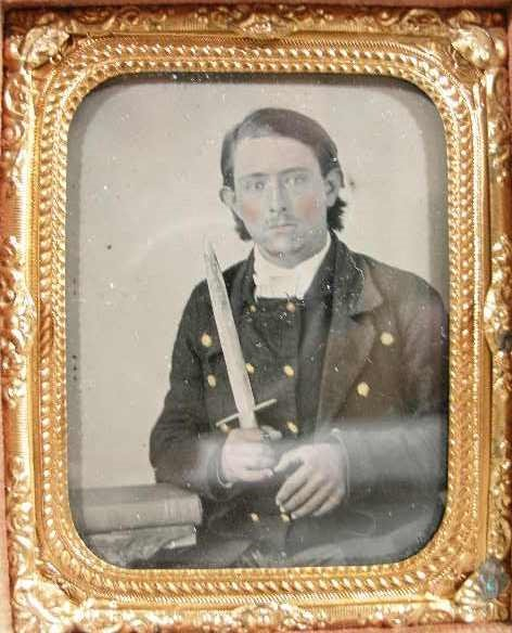 203: Civil War Ninth Plate Ambrotype Confederate Soldie