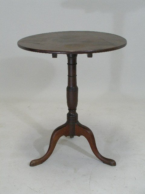 236: Tilt Top Candlestand, Probably Georgia, Late 18th
