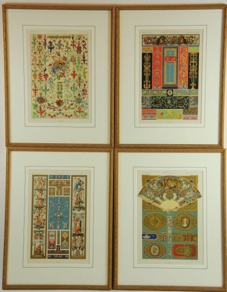 10: Set of (4) French Lithographs