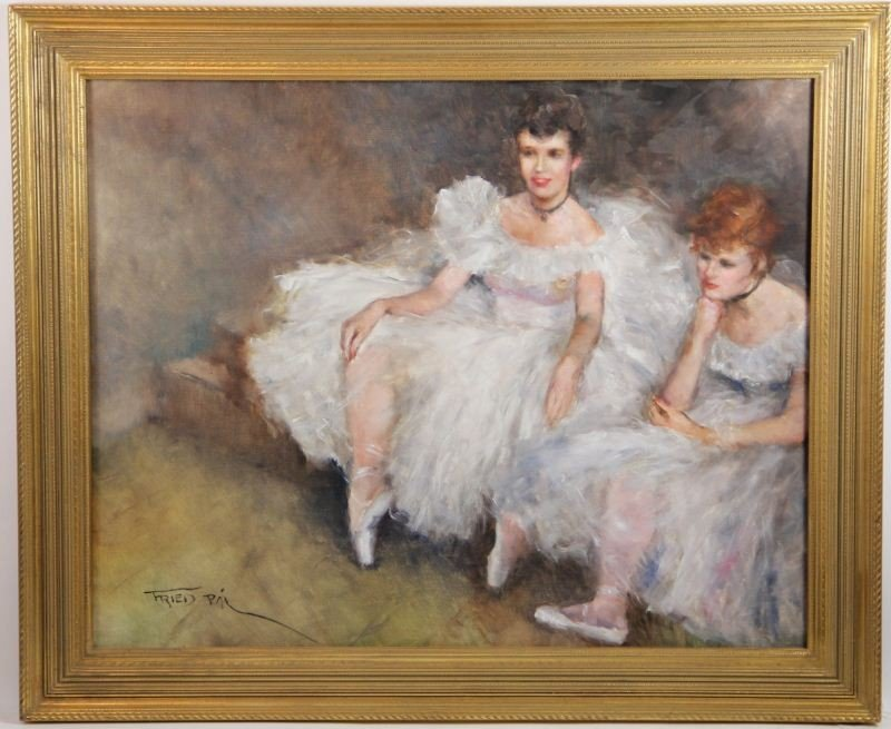 90: P‡l Fried (1893-1776), Two Ballerinas