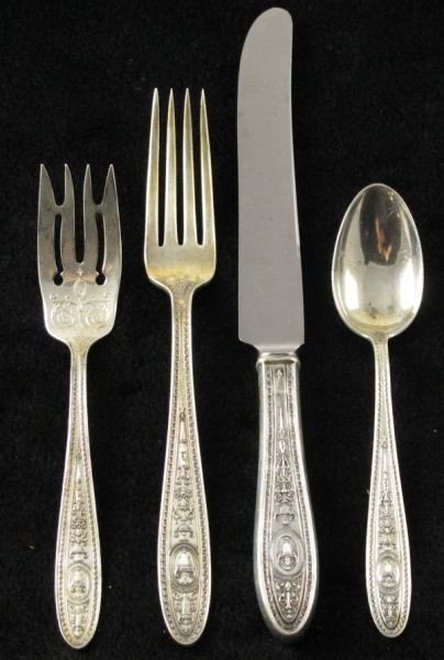"12: International Sterling ""Wedgwood"" Flatware"