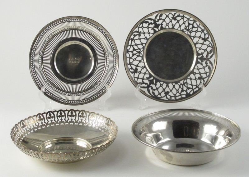 14: Group of (4) Sterling Silver Objects