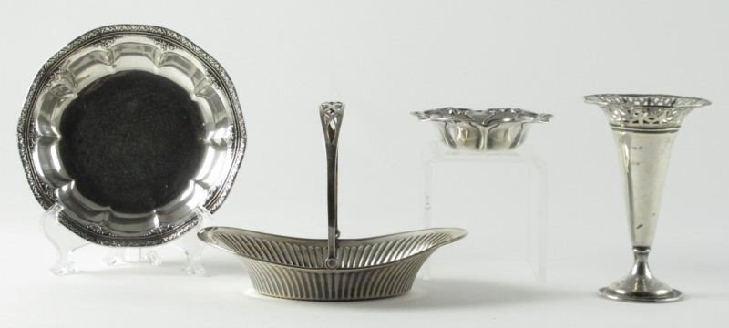 15: Group of (4) Sterling Silver Objects