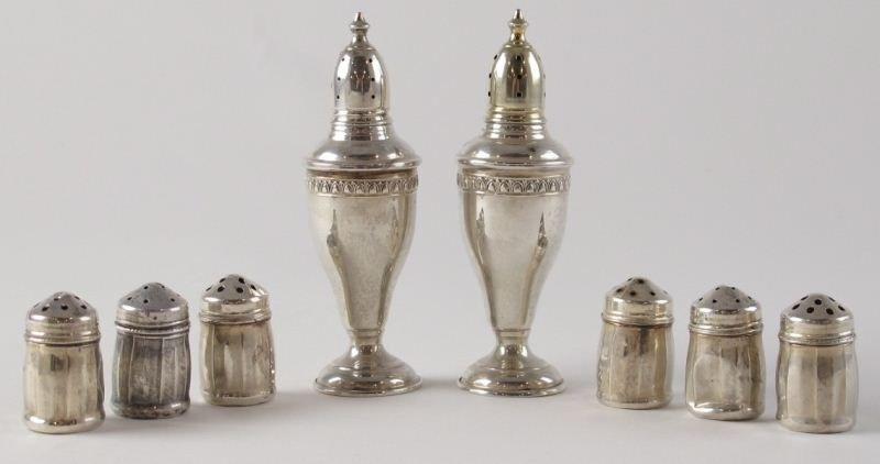 19: Group of Sterling Salt and Pepper Shakers
