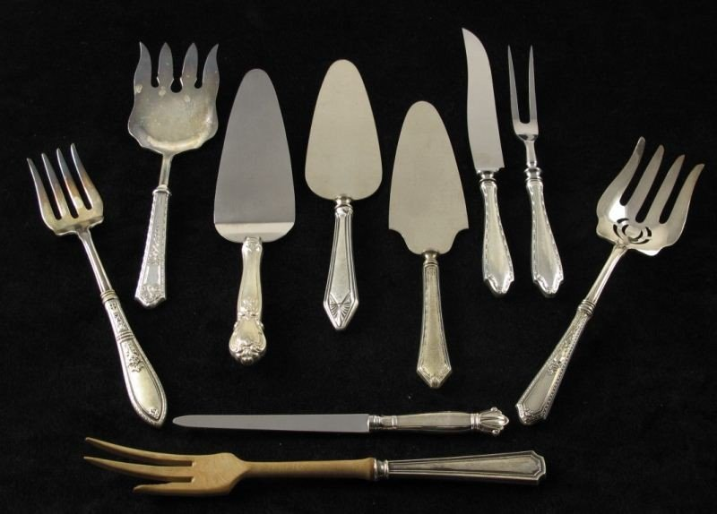 22: Group of Sterling Handled Flatware