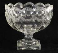 78 Swag and Star Brilliant Cut Glass Pedestal Bowl