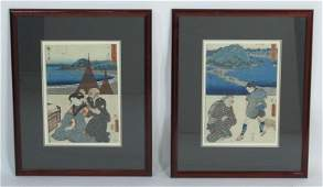 Two Unusual Antique Japanese Prints