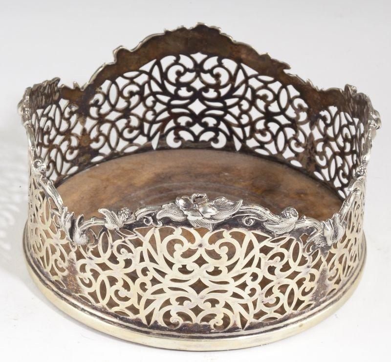 14: Pair of George III Sheffield Plate Wine Coasters - 2