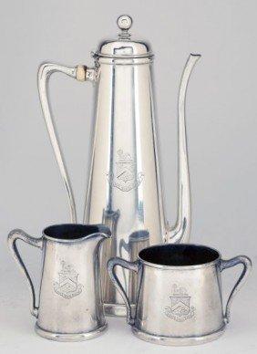 Whiting Sterling Silver Demitasse Set, Circa 1905
