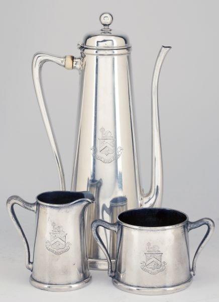 31: Whiting Sterling Silver Demitasse Set, circa 1905