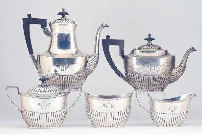 33: Gorham Sterling Silver Tea & Coffee Service