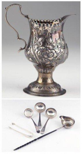 Seven Georgian Silver Table Articles