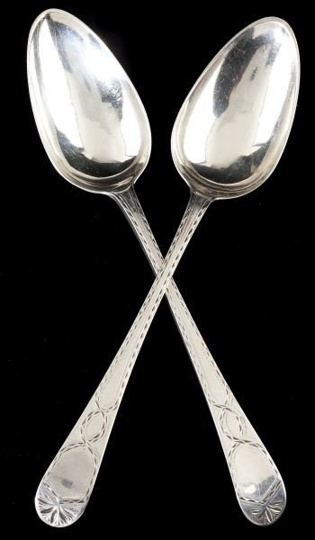 38: Pair of George III Silver Tablespoons