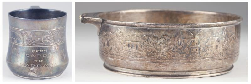 42: Tiffany & Co. Sterling Silver Child's Cup & Bowl