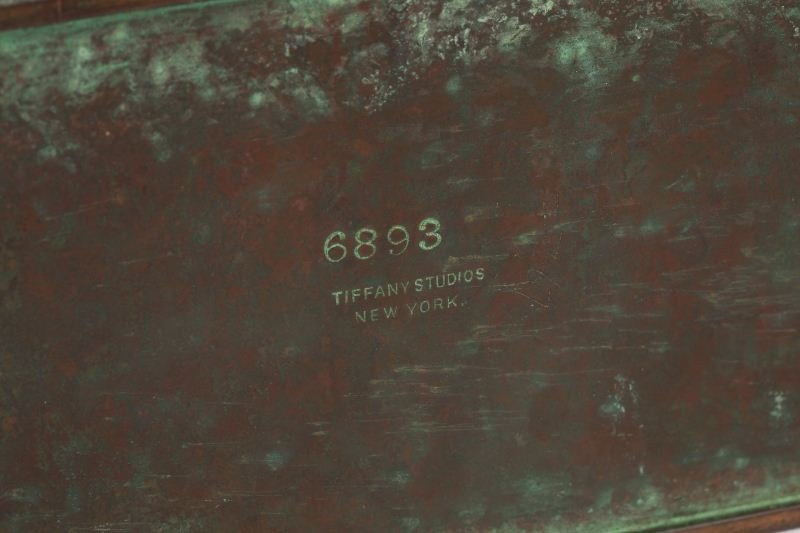 "43: Tiffany Studios Bronze ""Zodiac"" Desk Set - 3"