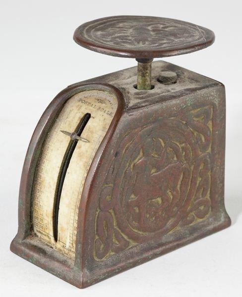 "43: Tiffany Studios Bronze ""Zodiac"" Desk Set - 4"