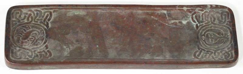 "43: Tiffany Studios Bronze ""Zodiac"" Desk Set - 8"