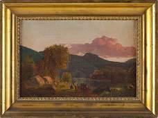 84: Hudson River School Landscape, 19th century