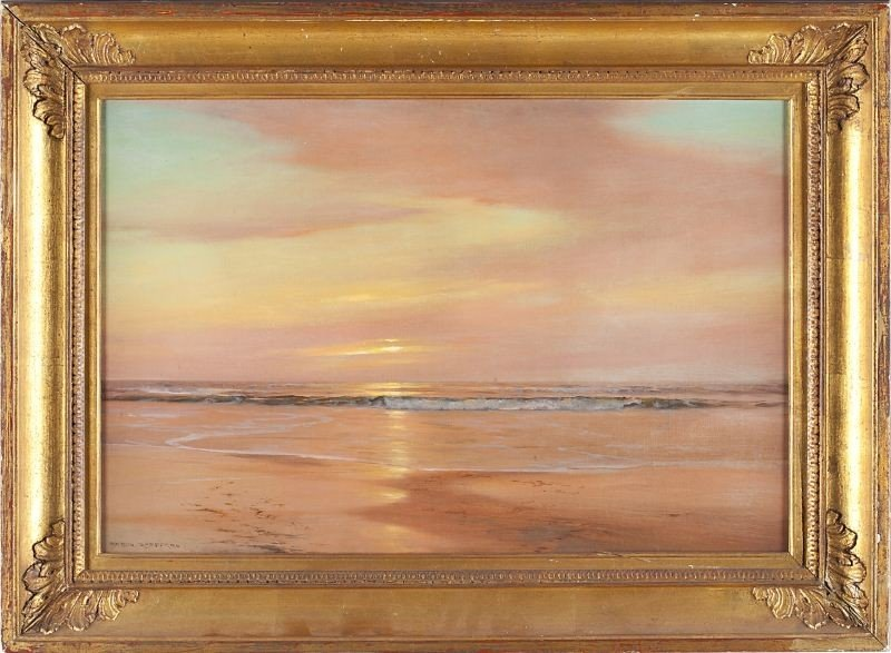 98: Warren Sheppard (NY, 1859-1937), Sea at Sunset