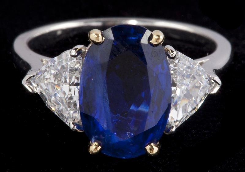 105: Platinum, Sapphire and Diamond Ring