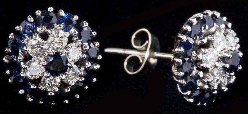 114: Sapphire and Diamond Earrings, Garrard & Co.