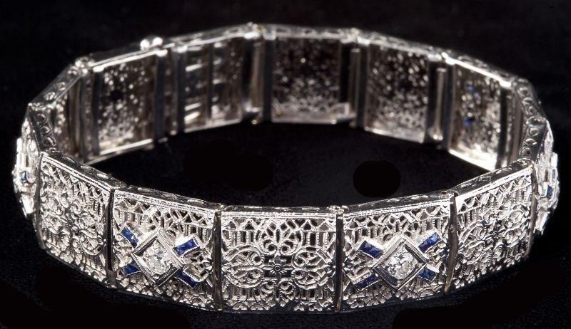 131: Edwardian Diamond Bracelet