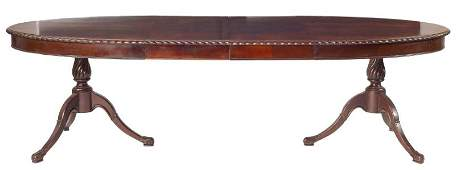 198: American Double Pedestal Dining Table