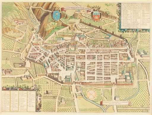 348 Joan Blaeu Map Of Gubbio Italy