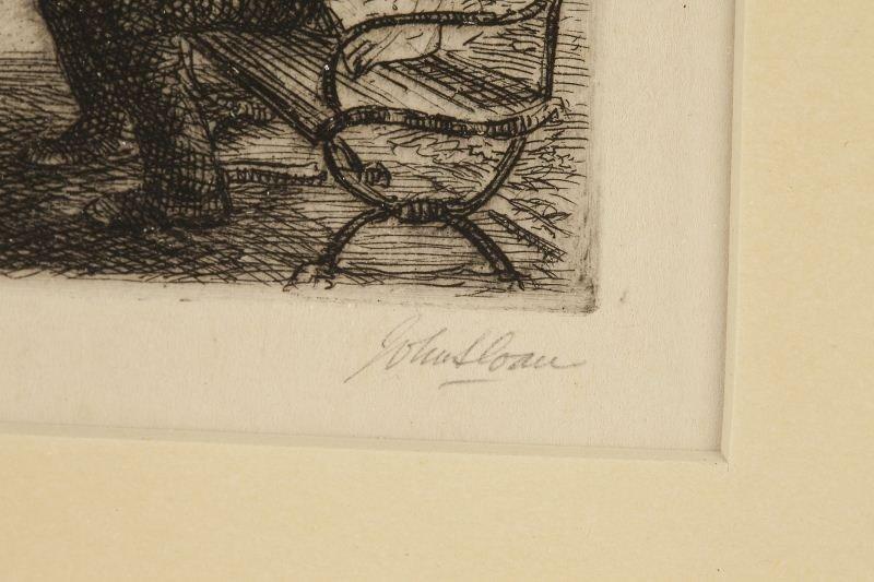446: John Sloan (NY, 1871-1951), Swinging in the Square - 2