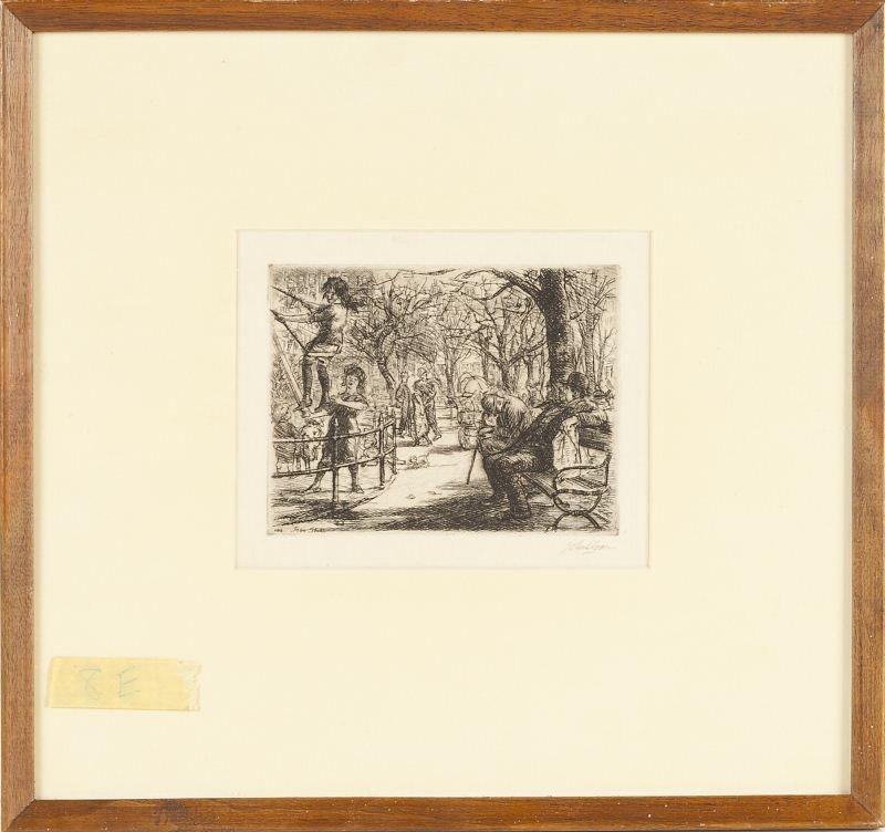 446: John Sloan (NY, 1871-1951), Swinging in the Square - 3