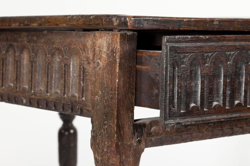 559: English Jacobean Style Oak Table - 2