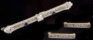 583 Three Art Deco Bar Pins