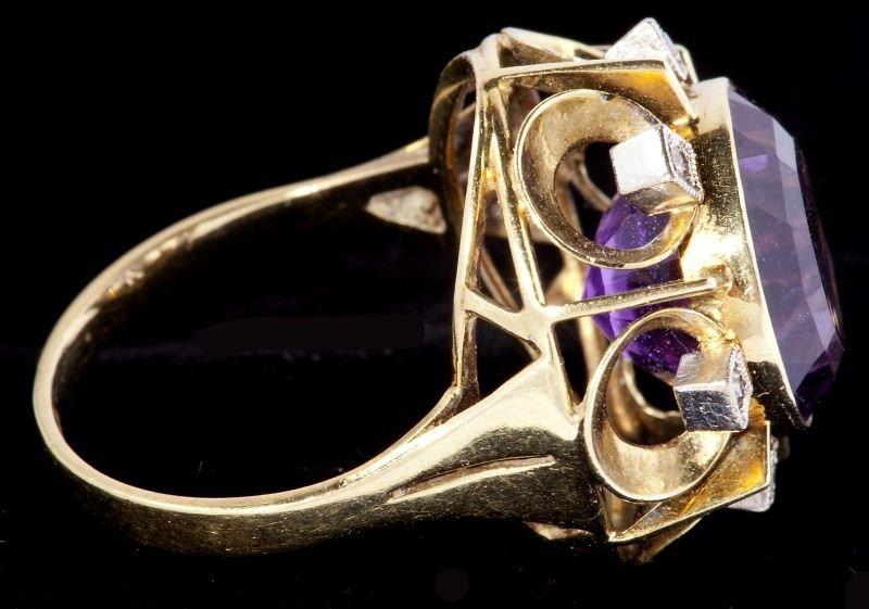 634: Amethyst and Diamond Ring - 2