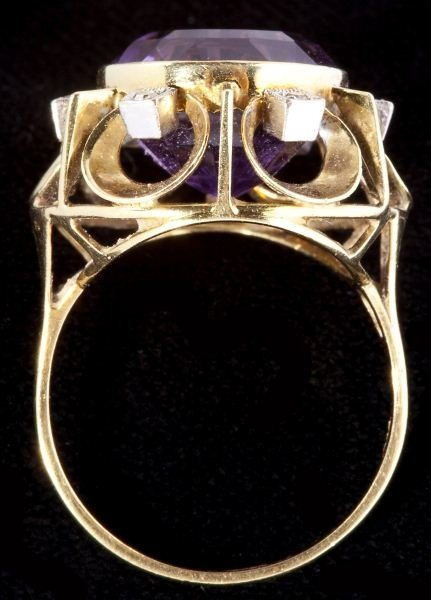 634: Amethyst and Diamond Ring - 3