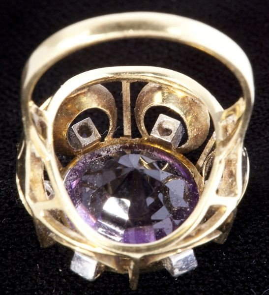 634: Amethyst and Diamond Ring - 4
