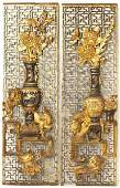686 Two Chinese Carved and Gilded Wall Panels