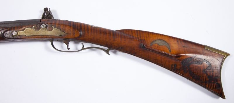716: Samuel Baum Flintlock Pennsylvania Longrifle - 4