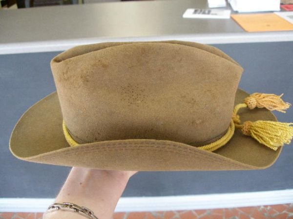 1008: US Army Campaign Hat, Late 1880-1890's, - 8