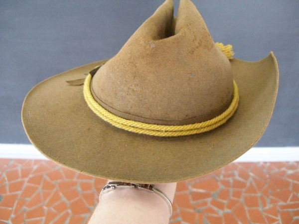 1008: US Army Campaign Hat, Late 1880-1890's, - 9