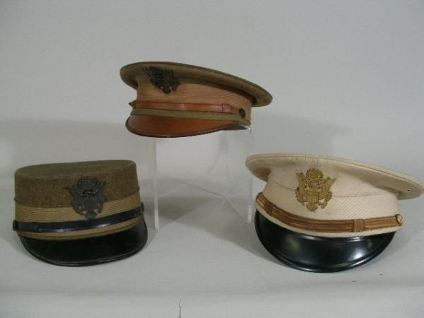 1015: Three US Army Officer Hats, c.1900,