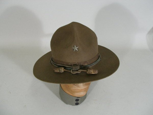 1016: US Army WWI Brigadier General Campaign Hat, - 2
