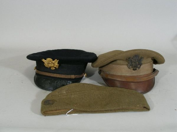 1022: Three US Army Hats, WWI Era to Post,
