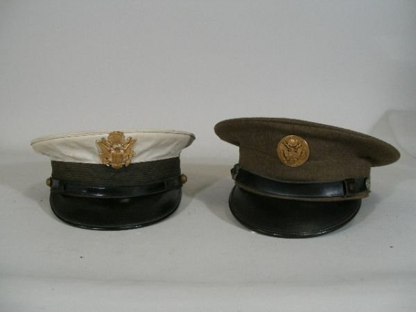 1023: Four US Army Visor Hats, Post WWI,