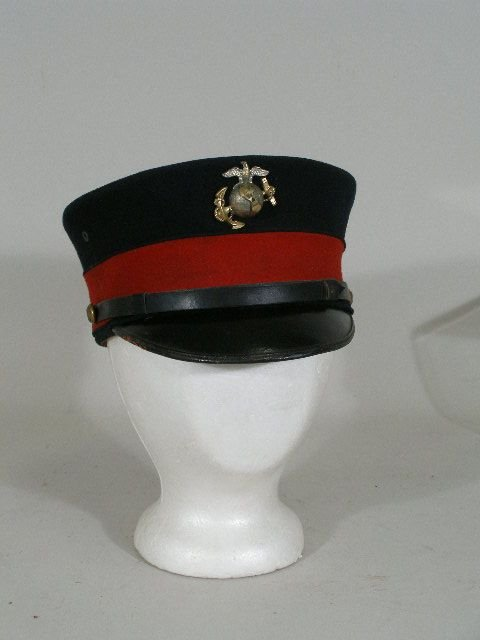 1050: US Marine Junior Officer's Visor Hat, c. 1900,
