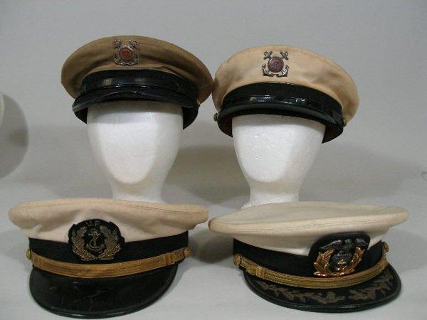 1233: Group of Four US Merchant Marine Hats,