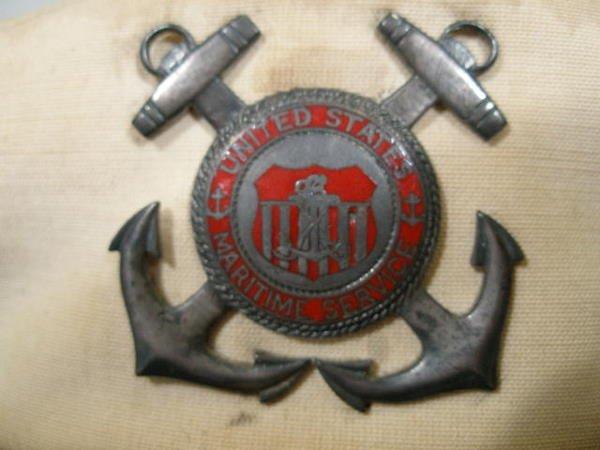 1233: Group of Four US Merchant Marine Hats,  - 2