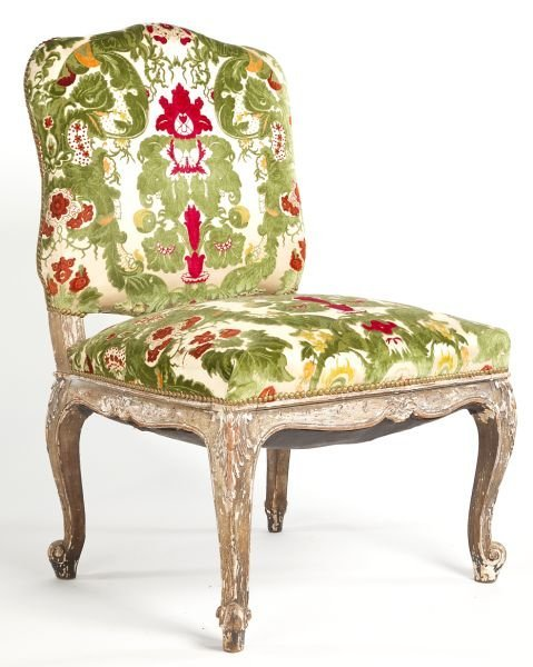 70: Italian Carved and Upholstered Side Chair